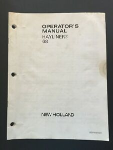 New Holland 68 Hayliner Hay Baler Operator s Manual