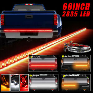60 Led Strip Tailgate Light Bar Reverse Brake Signal For Chevy Ford Dodge Truck