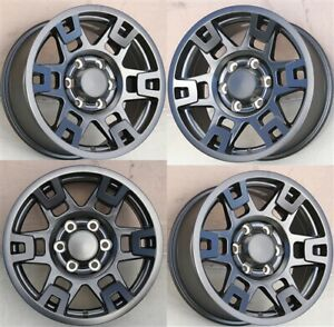 4 set 17x8 0 6x139 7 Matte Black Wheels Fit 4runner Tacoma Fj Cruiser Turdra