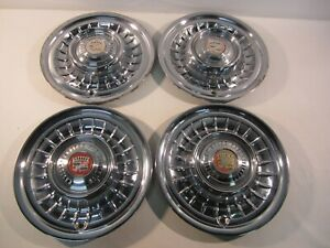 1958 Cadillac Eldorado Deville Series 62 Fleetwood 15 Wheel Covers Hubcaps