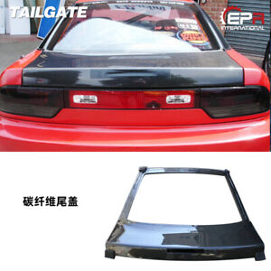 For Nissan Silvia 180sx S13 Carbon Fiber Rear Hatch Tailgate Trunk Cover Bodykit