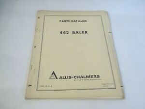 Allis chalmers Model 442 Baler Parts Catalog