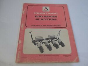 Allis chalmers 600 Series Planters For 144 176 Frames Operator s Manual