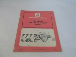 Allis chalmers 700 Series Two Way Plow Operator s Manual