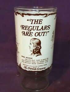 *1970's Coca Cola Drinking Glass Heritage Collector Series PAUL REVERE