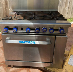 Imperial Ir 6 Six Burner Natural Gas Range Stove Oven