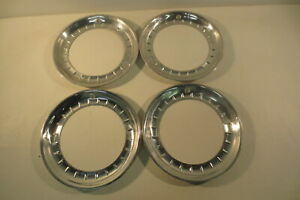 14 Beauty Rings Hubcaps 1940 S 1950 S Chevy Ford Buick Chrysler Mopar Accessory