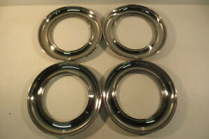 15 Beauty Rings Hubcaps 1940 s 1950 s Chevy Ford Buick Chrysler Mopar Accessory