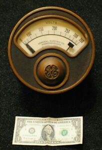 7 1 2 Ge Antique Industrial Volt Meter Steampunk Gauge Vtg General Electric