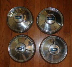 Vintage Chevy Pick Up Rat Rod Dog Dish 10 5 Hubcaps Wheel Covers 4