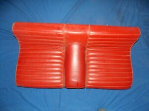 65 66 Ford Mustang Fastback Shelby Lower Rear Seat Cushion Red 389 K A