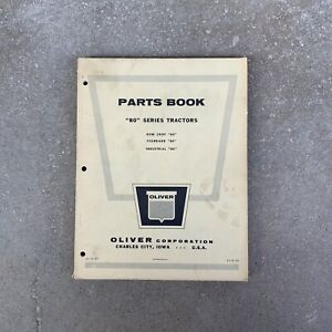 Vintage Oliver Parts Books 80 Series Tractor Orignal Manual
