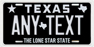 Houston Texas Personalized License Plate Your Name Any Text Custom Black White