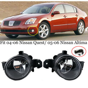 For 2005 2006 Nissan Altima Clear Front Bumper Driving Fog Lights Lamps switch