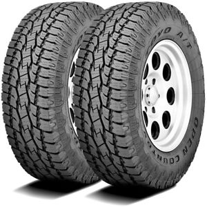2 New Toyo Open Country A T Ii 255 70r17 110s At All Terrain Tires