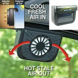Solar Powered Car Window Windshield Auto Air Vent Cooling Fan Cooler Radiator 1x