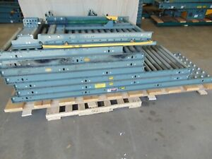 Hytrol Gravity Roller Conveyor Sections With Walk Access Lift Gate Legs