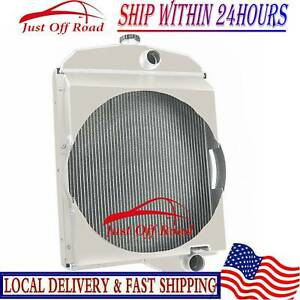 3 Row Aluminum Oliver Tractor Radiator For Model 1550 1555 1600 1650 1655
