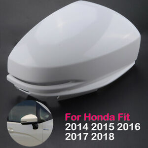 Right Door Side Rearview Mirror Cover Cap Fits For Honda Fit Jazz 2014 2018
