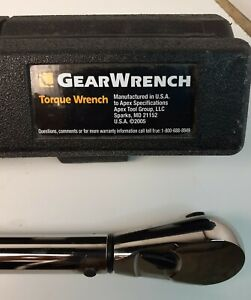 Gearwrench 1 2 Torque Wrench 25 250 Foot Pounds Hard Case Adjustable Ex Cond
