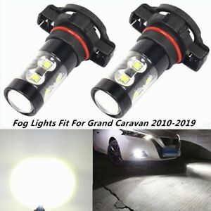 100w Fog Lights For Dodge Grand Caravan 2010 2019 6000k White Cree Led Bulbs