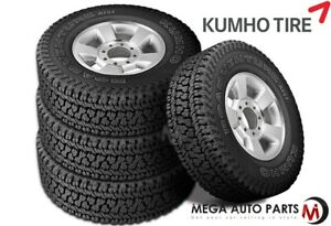 4 Kumho Road Venture At51 P265 70r16 112t All Terrain Truck 55k Mi 3pmsf Tires