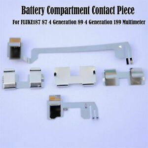 For Fluke187 87 4 Generation 89 189 Multimeter Battery Compartment Contact Parts