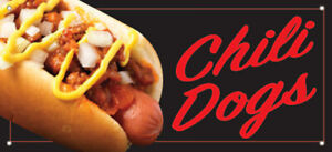 Chili Dogs Vinyl Banner Hot Dogs Sign Kb Multi Sizes