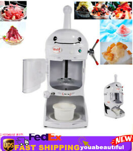 Commercial Ice Shaver Machine Snow Cone Shaved Ice Drink Maker Crusher Instrumen