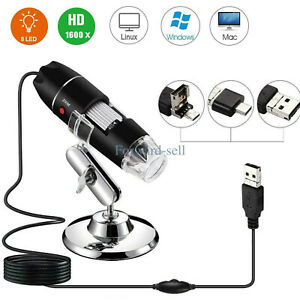 1600x 8led 3in1 Digital Microscope Endoscope Zoom Camera Magnifier With Stand