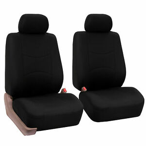 Fabric Bucket Seat Covers For Front Seats With Detachable Headrests