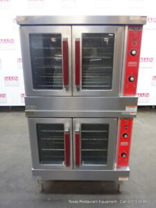 Vulcan Vc4gd 10 Gas Double Deck Full Size Convection Oven On Legs