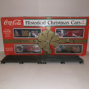 COCA COLA K-LINE  K-1119  CHRISTMAS HISTORICAL HOLIDAY TRAIN CARS  NEW IN BOX