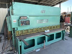 Piranha Shear 1 2 X 10 Hydraulic Mfg Year 2007 Power Squaring Metal Shear