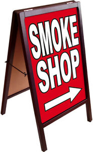 Smoke Shop A frame Sign Sidewalk Pavement Sign Double Sided 172875 Rb