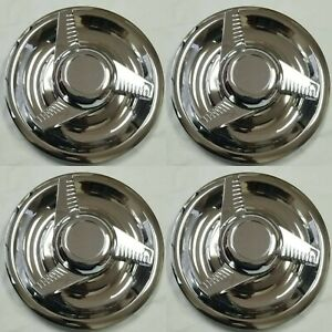 4x New Chevy Gm 3 Bar Spinners Rally Wheel Center Hub Caps Rim 5 Lug Nut Covers