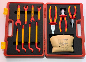 Booher 12 piece Insulated Tool Set 0200406 Electrician Wrenches Pliers Gloves