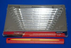New Snap on 10 Pc 12 point Metric Flank Drive Plus Long Combination Wrench Set