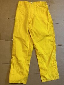 Pia Firefighter Wildland Brush Pants Nomex Yellow M l Waist 31 34 Length 32