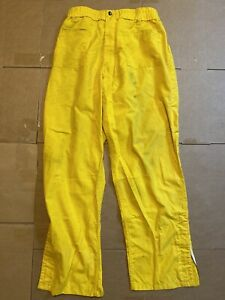 Pia Firefighter Wildland Brush Pants Nomex M 32 Yellow Waist 31 34 Length 32