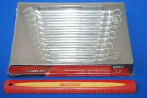 New Snap On 10 Piece 12 Point Metric Flank Drive Plus Standard Combo Wrench Set