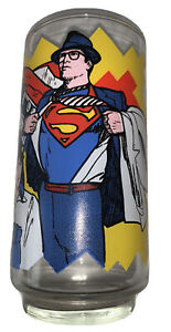 Vintage Superman Glass 1978 Rare New