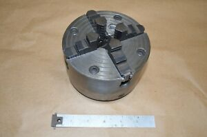 5 Hardinge Four Jaw Chuck For Hlvh Taper Nose 5 No Key Reversible Jaws 36hc