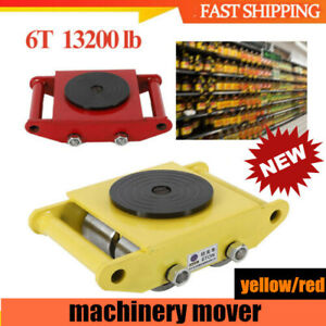 13200lb 6t Machinery Mover Machine Dolly Skate Roller 4 Rollers Heavy Duty 360