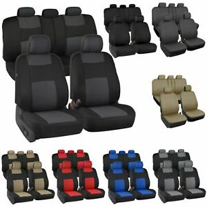 Auto Seat Covers For Car Truck Suv Van Universal Protectors Polyester 5 Colors