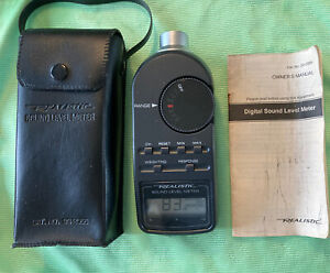 Realistic Radio Shack Digital Sound Level Meter 33 2055 Case Manual Tested