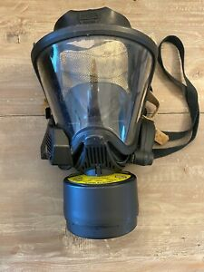 Msa Ultra Elite Fire Fighter gas Mask Size Medium Excellent Condition
