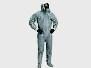 Dupont Tychem Cpf2 Hazmat Chemical Suit Heavy Duty Med W Hood Boot Covers Ppe