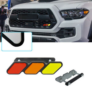 High Quality Tri Color 3 Grille Badge Emblem Ea For Toyota Tacoma 4runner Tundra Fits 2009 Toyota Tacoma