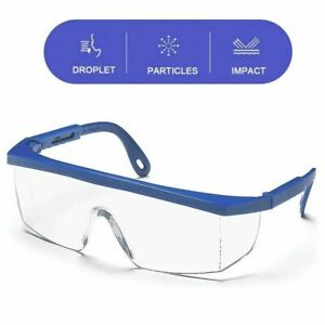 Safety Goggles Over Glasses Lab Work Eye Protective Eyewear Clean Lens Us Stock